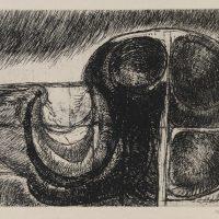 George Wallace - Dark Landscape - hard & soft ground etching - 1974