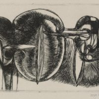 George Wallace - Large Excavations - drypoint - 1981