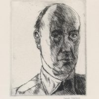 George Wallace - Self Portrait - drypoint - 1983