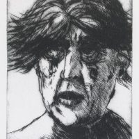 George Wallace - Weeping Woman - drypoint - 1983