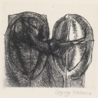 George Wallace - Twin Forms state 4 - drypoint - 1983