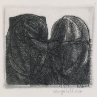 George Wallace - Twin Forms - drypoint, state 5 - 1983
