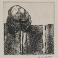 George Wallace - The Balanced Rock - soft & hard ground etching - 1986