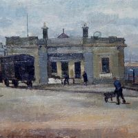 George Wallace - Dun Laoghaire, 1948, oil painting on board