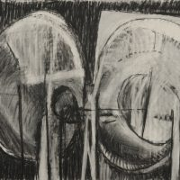 George Wallace - Joined Workings at Night, 1985, charcoal drawing