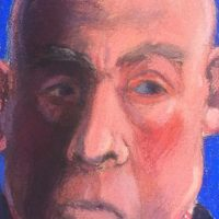 George Wallace - Man's Head, pastel