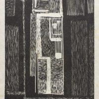 George Wallace - Mine Shaft - woodcut - c.1955