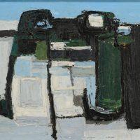 George Wallace - Pattern of Snowy Fields, 1956, oil painting on hardboard