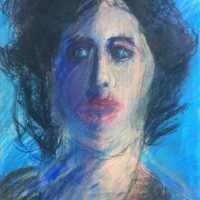 George Wallace - Woman's Head, pastel drawing - 47 x 35 cm.