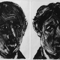 George Wallace - Report on Business, 1989, monotype, four impressions